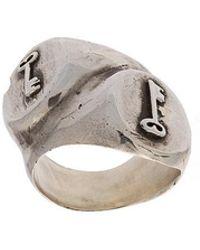Henson - Keys Double Signet Ring - Lyst
