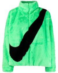 Nike Veste texturée à logo imprimé Swoosh - Vert