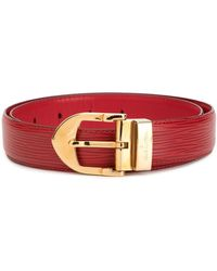 Louis Vuitton Ceinture à design texturé - Rouge