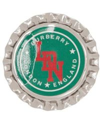 Burberry Brosche im Kronkorken-Design - Mettallic