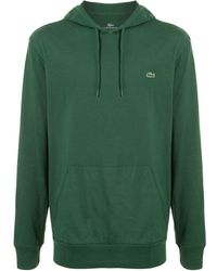Lacoste Embroidered logo hoodie - Vert