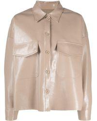MM6 by Maison Martin Margiela Рубашка Из Искусственной Кожи - Естественный