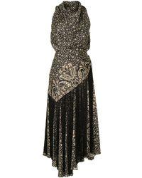 Jonathan Simkhai ペイズリー ノースリーブドレス - ブラック