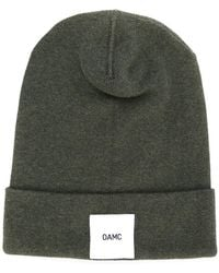 OAMC - Brand Patch Knitted Beanie - Lyst