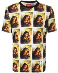 Supreme T-shirt Virgin Mary - Giallo