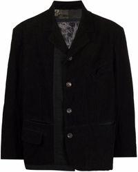 Ziggy Chen オーバーサイズ シングルジャケット - ブラック