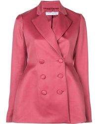 Marina Moscone Double Breasted Blazer - Pink