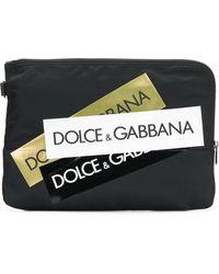 Dolce & Gabbana Clutch con stampa - Nero