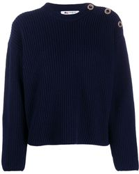 Ports 1961 Crew Neck Knitted Jumper - Blue