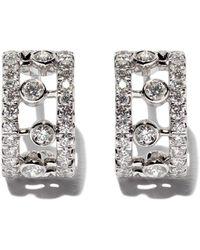 De Beers 18kt White Gold Dewdrop Diamond Earrings - Multicolor