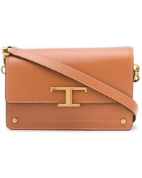 Tod's Mini T Logo Satchel - Brown