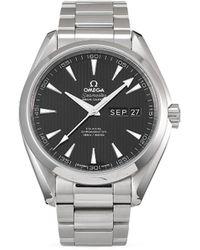 Omega Наручные Часы Seamaster Aqua Terra 150 M Co-axial Annual Calendar Pre-owned 43 Мм 2016-го Года - Черный