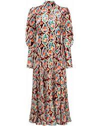 La DoubleJ Бархатное Платье Kenny С Принтом - Многоцветный