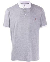 Brunello Cucinelli - コントラストカラー ポロシャツ - Lyst