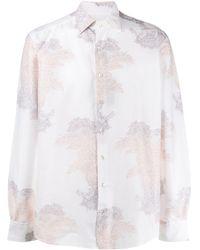 Etro Camisa con estampado de cachemira - Blanco