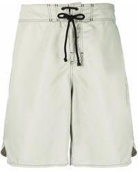 Jil Sander Logo-patch Swim Shorts - Green