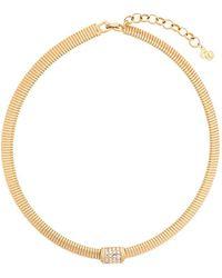 Dior クリスタルカラー ネックレス - メタリック