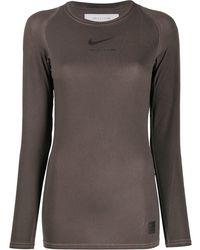 1017 ALYX 9SM X Nike ロゴ トップ - ブラウン
