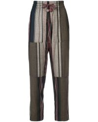 Apiece Apart - Stripe Print Trousers - Lyst