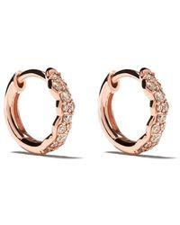 Astley Clarke 14kt Rose Gold Diamond Mini Interstellar Hoops - Metallic
