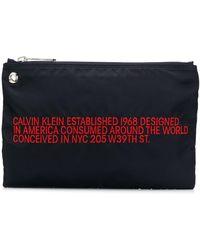 CALVIN KLEIN 205W39NYC - エンブロイダリー クラッチバッグ - Lyst