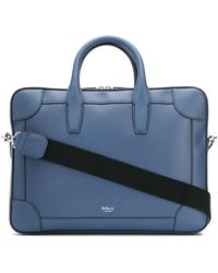 Mulberry Structured Top-handle Briefcase - Blue