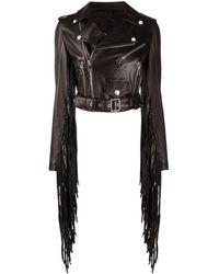 Manokhi Куртка С Бахромой - Черный