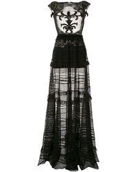 Saiid Kobeisy シアー ロングドレス - ブラック