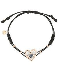 c95ed9f28 David Yurman 18kt Yellow Gold Cable Collectibles Diamond And Sapphire Evil  Eye Charm Bracelet in Metallic - Lyst