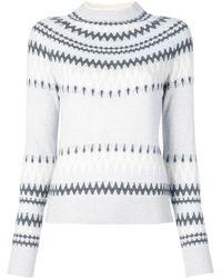 Adam Lippes Intarsia Knit Jumper - Grey