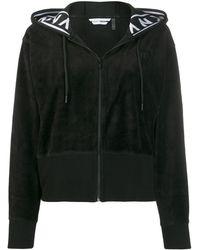 DKNY ロゴ トラックジャケット - ブラック