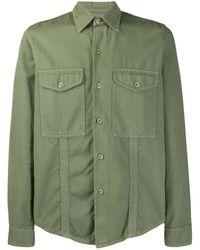 AMI Рубашка С Карманами - Зеленый
