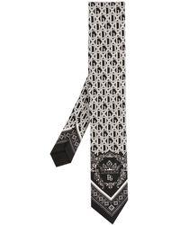 Dolce & Gabbana - モノグラム ネクタイ - Lyst