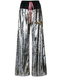 Nude - Sequin Palazzo Trousers - Lyst