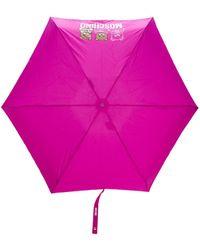 Moschino Paraguas con estampado Teddy Bear - Rosa
