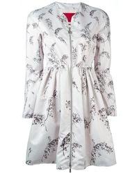Moncler Gamme Rouge Floral Pattern Flared Jacket - Pink
