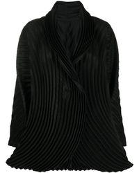 Issey Miyake Blazer à design plissé - Noir
