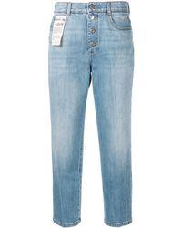 Stella McCartney - Cropped Straight Jeans - Lyst