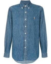 Polo Ralph Lauren Camisa con botones - Azul