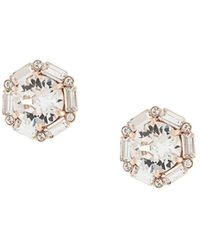 Tani By Minetani Hexagon Stud Earrings - Metallic