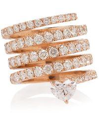 SHAY Кольцо Из Розового Золота С Бриллиантами - Многоцветный