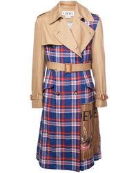 Loewe Checked Trenchcoat - Brown