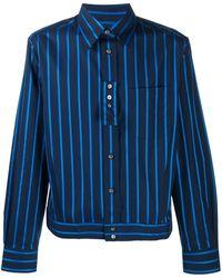 Lanvin Куртка-рубашка В Полоску - Синий