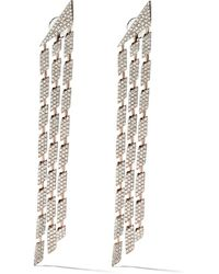 AS29 18kt Rose Gold Cascade Triple Diamond Earrings - Металлик