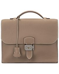 Hermès 2006 Pre-owned Sac A Depeche 25 Briefcase - Brown