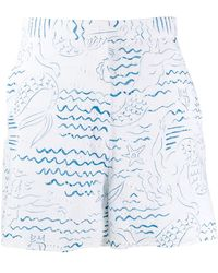 KENZO - Wave Mermaids ショートパンツ - Lyst