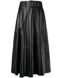 Arma ハイウエスト Aラインスカート - ブラック