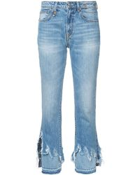 R13 Distressed Detail Jeans - Blue
