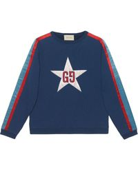 Gucci - Sweater Met GG Ster - Lyst