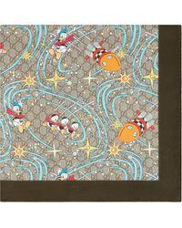 Gucci Платок Donald Duck Из Коллаборации С Disney - Синий